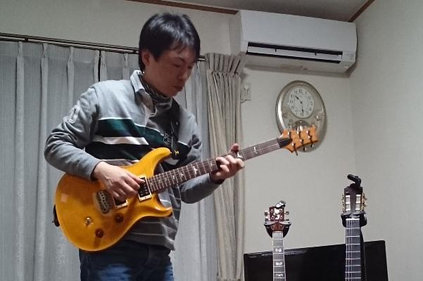 prs_custom24を弾く