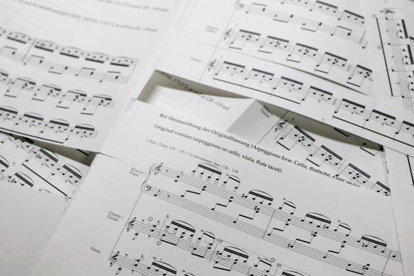 楽譜のスクラップ