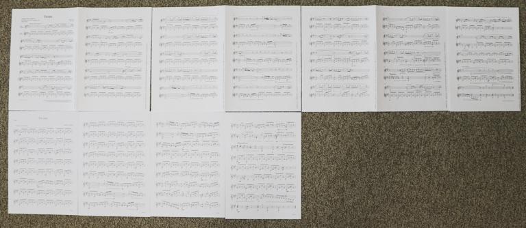 楽譜を並べてみた