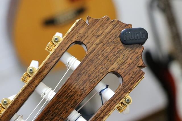 KORG Grip Tune クラシックギター 取付例