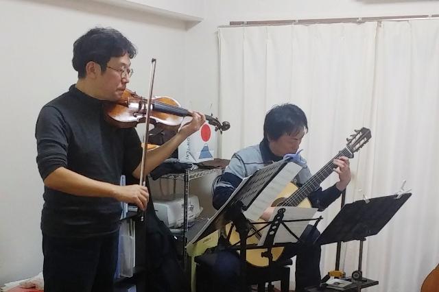 ヴァイオリンとギターの合奏