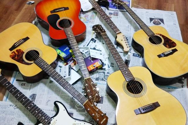 ギターをキレイに