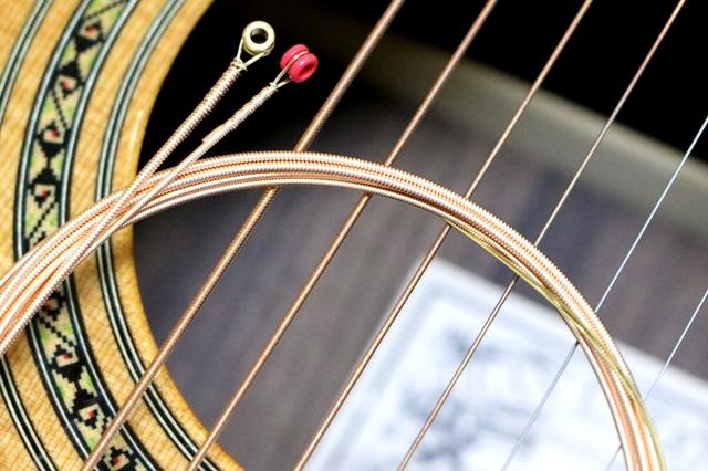 古い弦と新しい弦