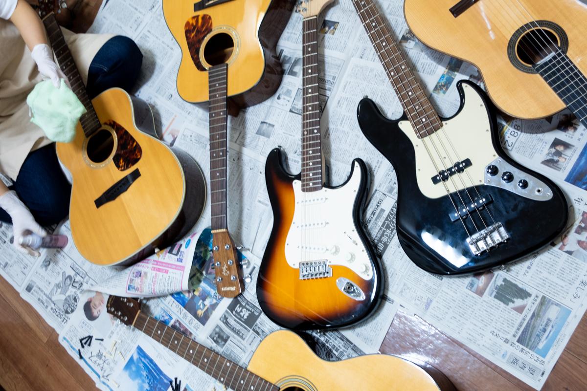 レッスン用ギターの弦交換